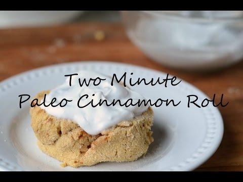 Two Minute Paleo Cinnamon Roll (nut-free)