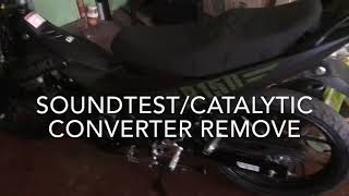 SOUNDTEST/CATALYIC CONVERTER REMOVED R150