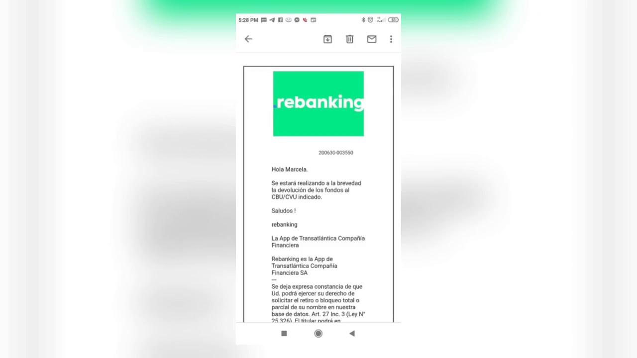 Dinero retenido en #Rebanking por cuentas cerradas 😪