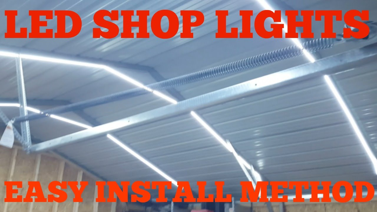 Garage led shop lights low voltage easy install youtube aloadofball
