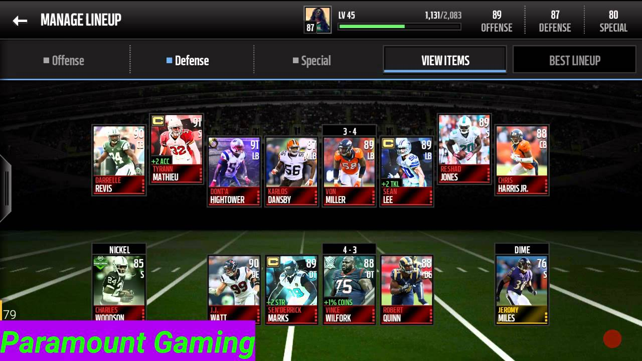 87 Overall Team Update! Madden Mobile 16 - YouTube 68ed8042a