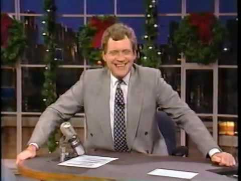 12281989 Letterman Jane Pauley Phoebe Cates Bob Sarlatte & 12281990 Morris Fonte