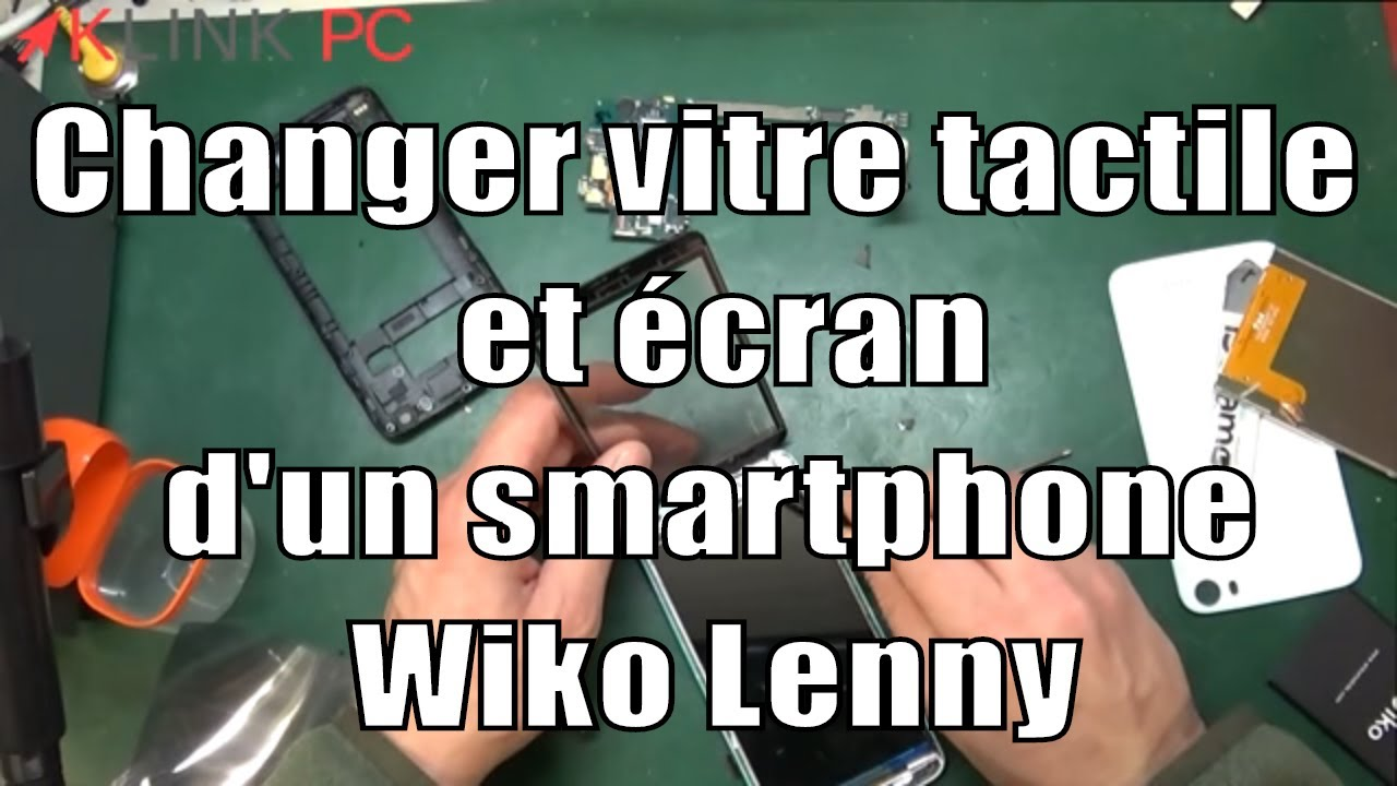 tuto comment changer la vitre tactile et l 39 cran lcd d 39 un t l phone portable wiko lenny youtube. Black Bedroom Furniture Sets. Home Design Ideas