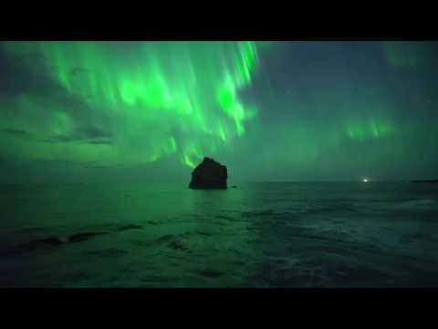 Northern lights with Drone