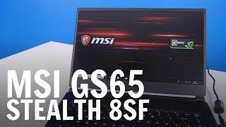 MSI GS65 Stealth 8SF: ora con GeForce RTX 2070 Max-Q