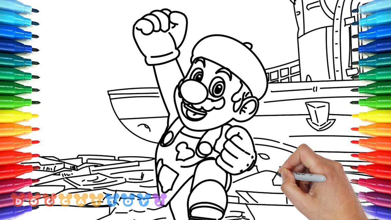 How to Draw Mario Odyssey Painter Mario 29 Drawing