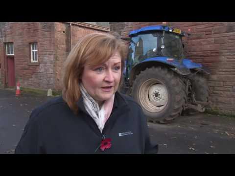 SRUC Crichton Royal hosts RHET food and farming day (ITV Border News footage)