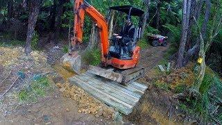 How to build a sturdy wood pole bridge