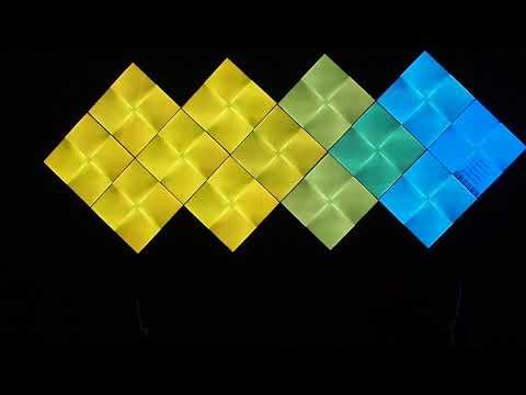 Nanoleaf Canvas - Rhythm demo, soundbar