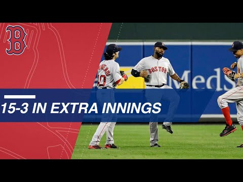 Clutch Red Sox notch 15 extra-inning wins in 2017