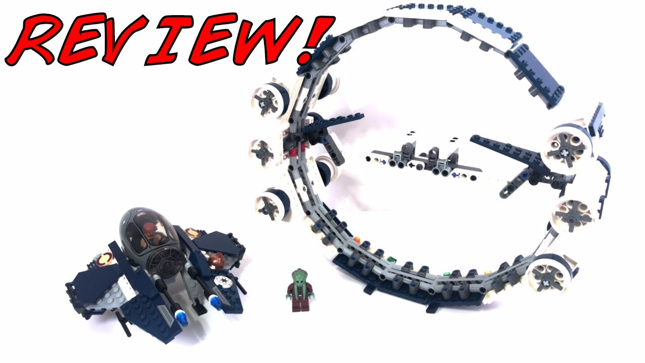LEGO Star Wars Jedi Starfighter with Hyperdrive Booster Ring Review! LEGO  7661 Review! 2007 Set!