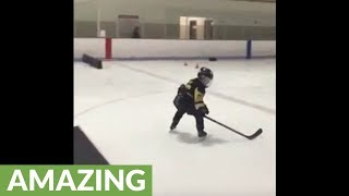 This 8-year-old prodigy shows off his unbelievable hockey skills!
