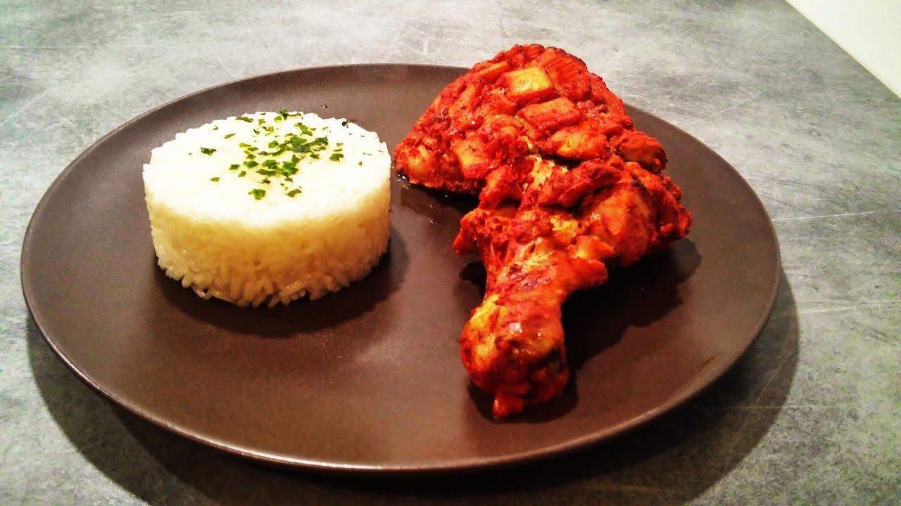 recette facile de poulet fa on tandoori poulet rouge tandoori chicken youtube. Black Bedroom Furniture Sets. Home Design Ideas