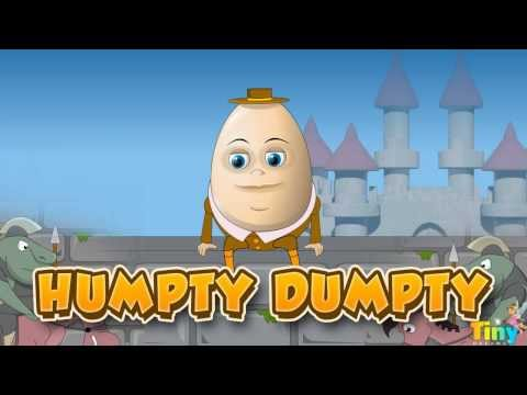 Humpty Dumpty Sat On A Wall   Nursery Rhymes and Animation Cartoon Songs For Children   TinyDreams