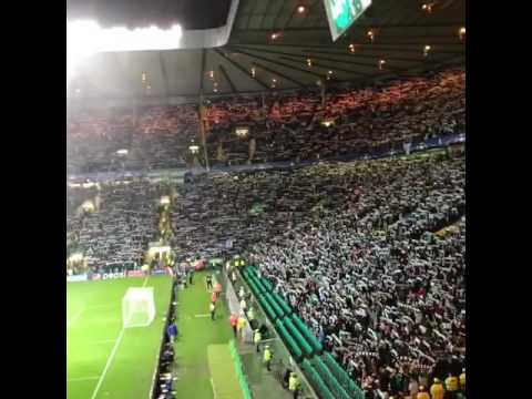 Manchester City Fans Interrupting You'll Never Walk Alone With Bluemoon Vs Celtic Away