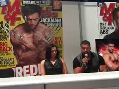 WWE - David Otunga & Aksana Muscle + Fitness 2013 Interview / Q & A Session