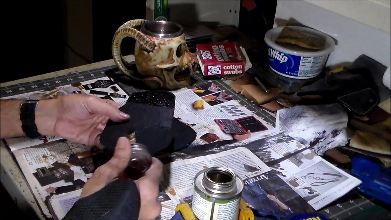 how to use contact cement on leather