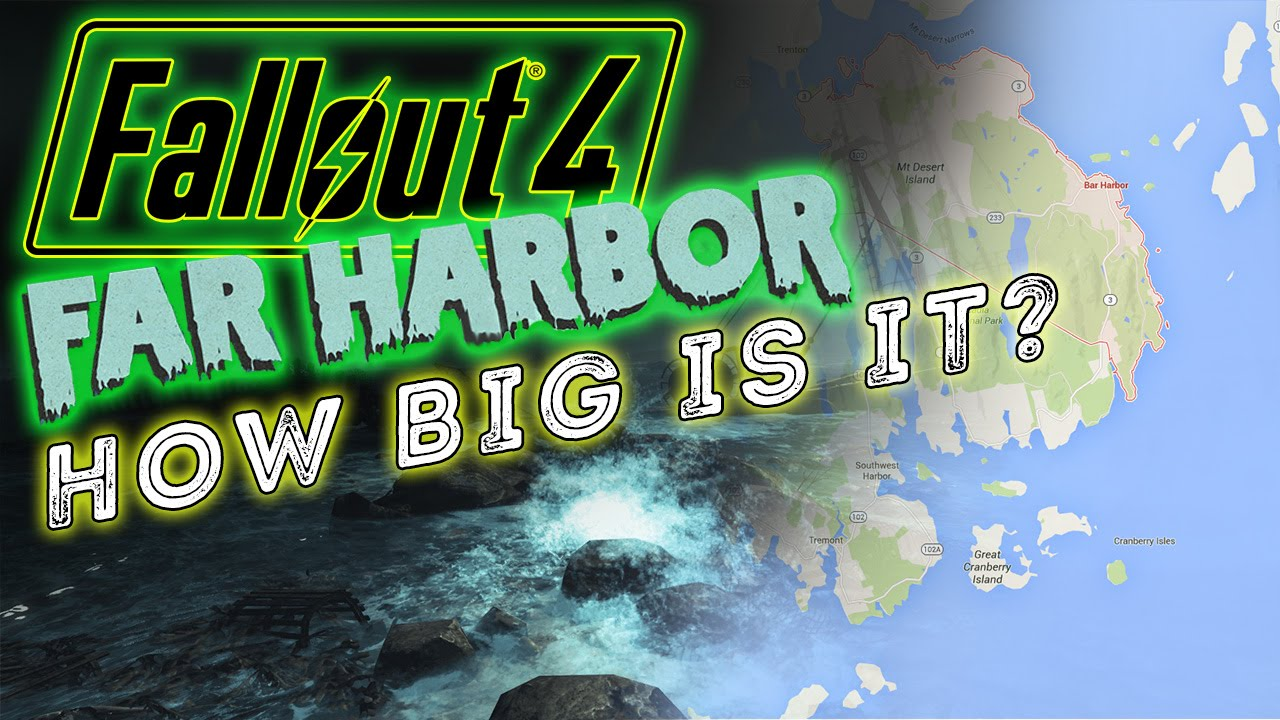 Fallout 4\'s Far Harbor DLC Map Will Be As Large As Fallout 3? - YouTube