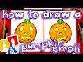 How To Draw The Pumpkin Emoji