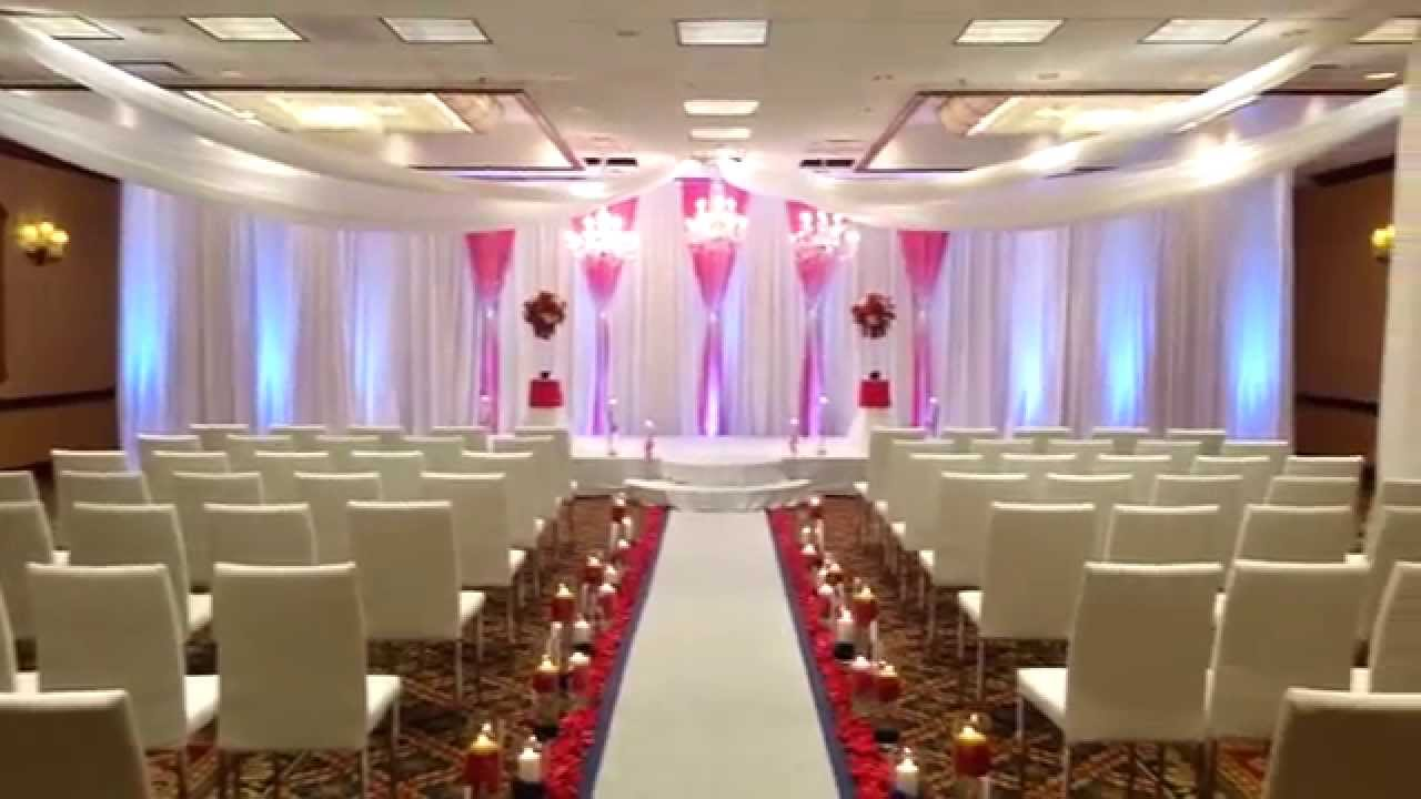Full room wedding ceremony setup ideas - YouTube