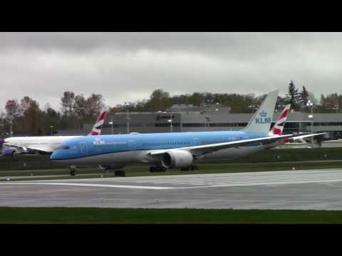 DELIVERY  KLM First 787 Delivery Flight from Paine Field