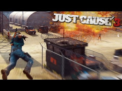 JUST CAUSE 3 FREE ROAM - DESTROYING THE NEW ISLAND (Just Cause 3 Funny Moments)