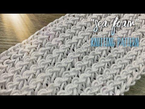 "КРАСИВЕЙШИЙ УЗОР СПИЦАМИ ""МОРСКАЯ ПЕНА"" 🌊🌊🌊 / Beautiful Elastic Knitting Pattern"
