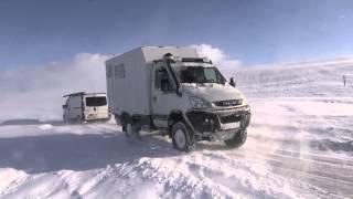 Winter in Island mit einem Iveco Daily 4x4