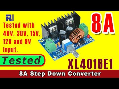 Review of XL4016E1 DC-DC Step Down Power Supply Module 4V-40V to 1.25-36V 8A