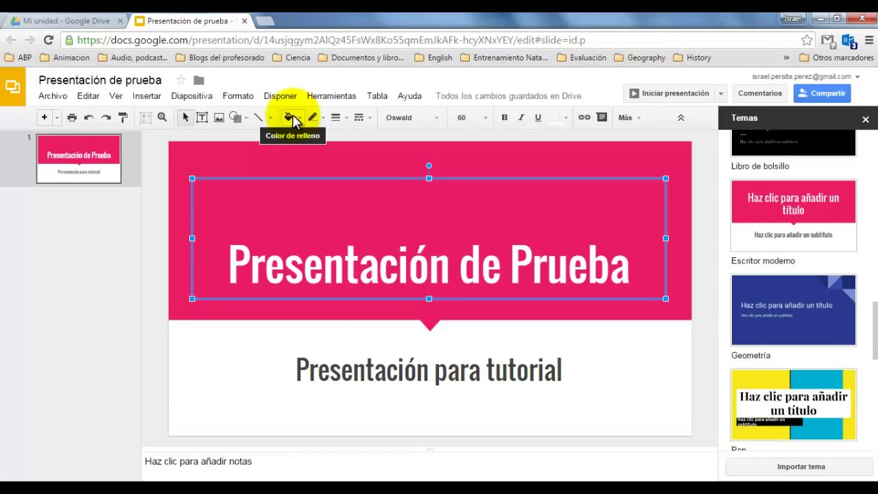presentaciones de google tutorial youtube