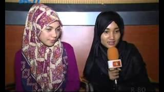 Fatin dan Indah Nevertari Pertama Kali Dipertemukan at Cek & Ricek RCTI 25 Januari 2015