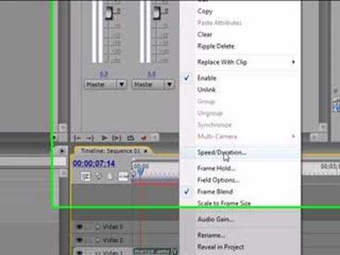 How to revers a video on adobe premiere pro cs3