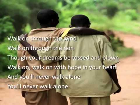 You'll Never Walk Alone ~ Jim Nabors ~ lyric video