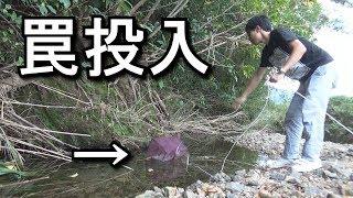 カミナリ警報!増水注意!離島の川で手長エビを仕留めて料理する! thumbnail