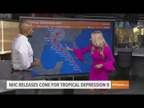 Tropical update: National Hurricane Center releases first forecast cone for Tropical Depression 9