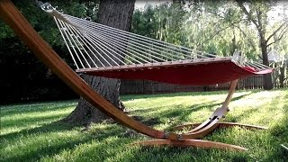 This is a time lapse of a bent wood lamination hammock stand made from Cypress.