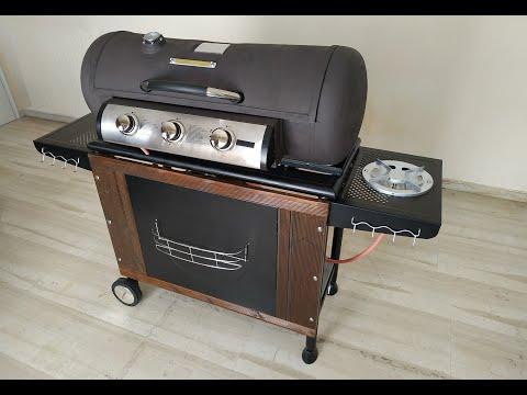 DIY BARREL BBQ GRILL (FROM LPG GAS CYLINDER)