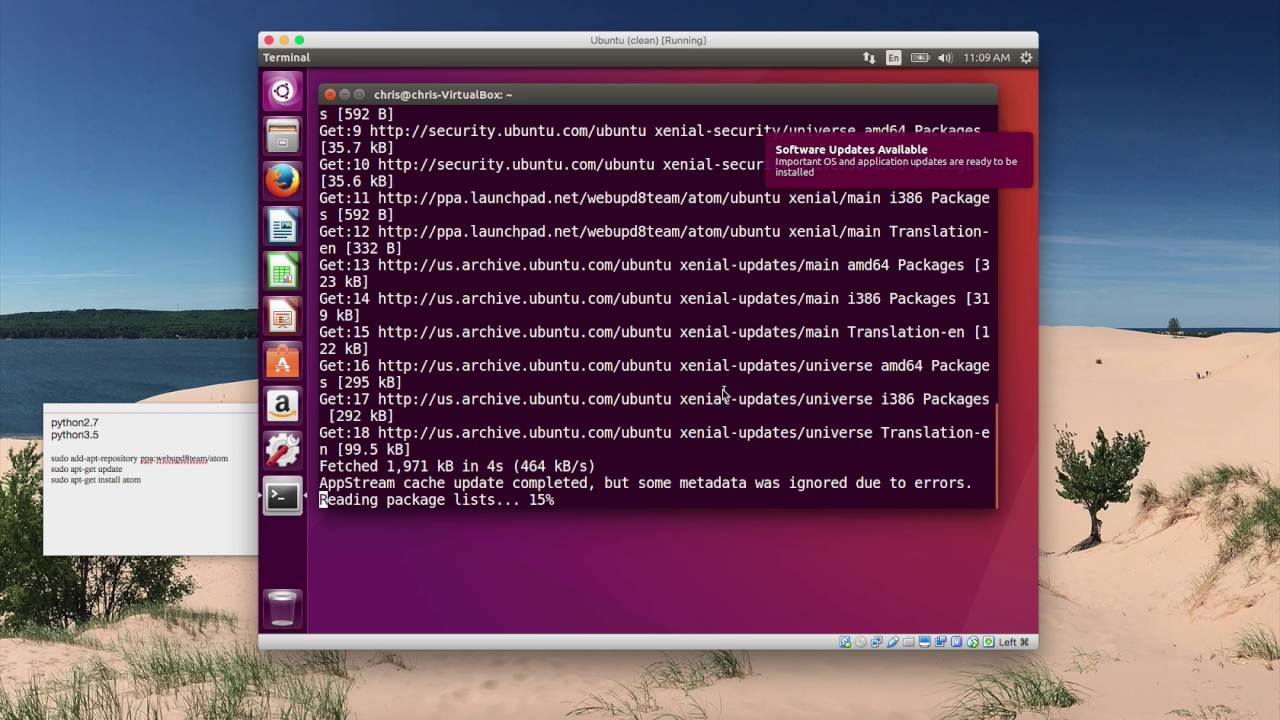 Installing and running Python 2 & 3 in Ubuntu Linux