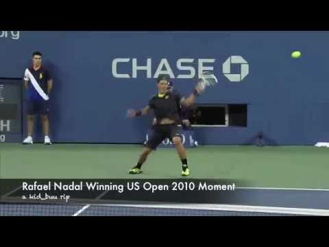 Rafael Nadal vs Novak Djokovic US Open 2010 Championship Final winning moment