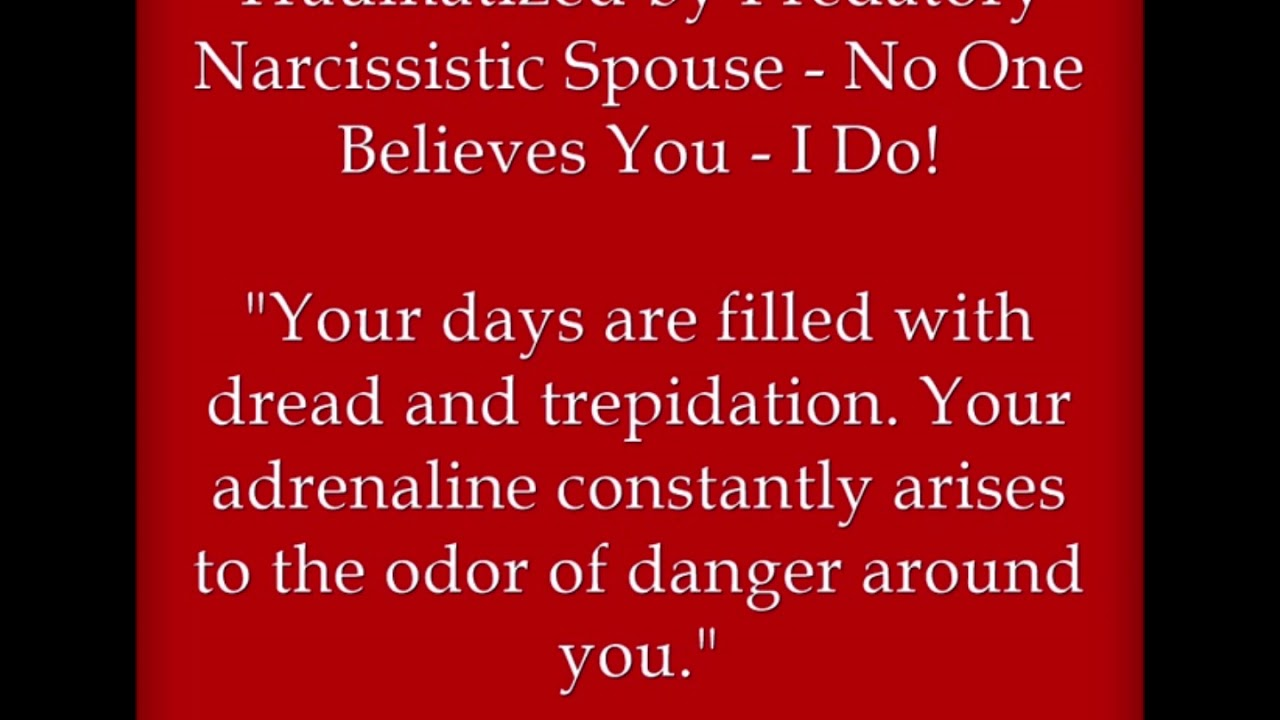 Traumatized by Predatory Narcissistic Spouse - No One Believes You - I Do!