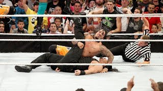 Roman Pinned For The First Time In Wwe!  11-on-3 H