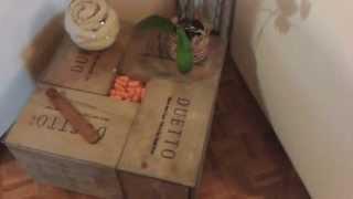 Recycled Wine Box Coffee Table, Diy