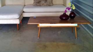 NEW Mid Century Modern Style Coffee Table with LED's