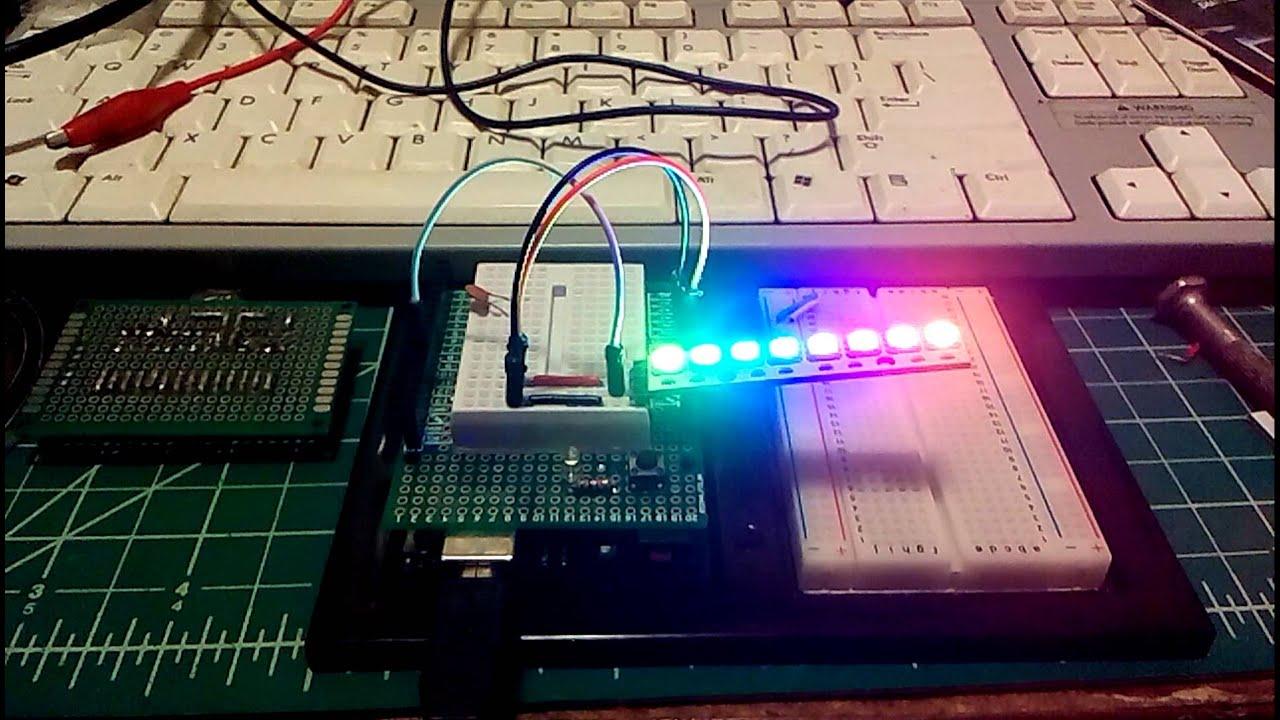 Neopixel stick with arduino uno youtube