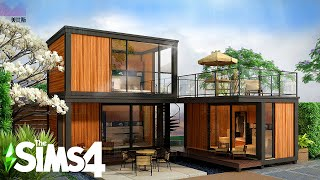 WOODEN CONTAINER BEACH HOME ~ Curb Appeal Recreation: Sims 4 Island Living Speed Build (No CC)