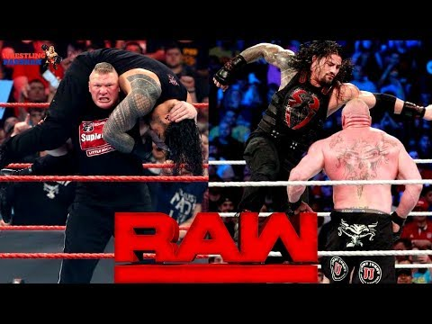 ROMAN REIGNS Fights BROCK LESNAR on RAW!!! thumbnail