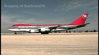 Northwest 747-212B N642NW departs Las Vegas-McCarran International Airport