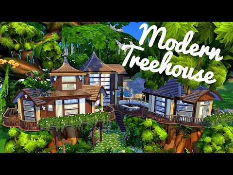Sims 4 house build modern treehouse youtube House build