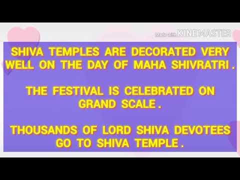 Maha Shivaratri Festival Essays in english for students