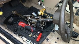 How To Remove Steering Wheel COLUMN Shaft On Honda Accord | DIY Auto Repair Guide & Fix Ideas